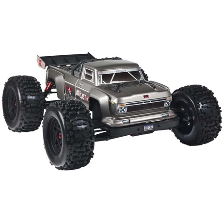 Arrma Outcast 6S BLX 4WD 1/8 Brushless Stunt Truck RTR, Silver